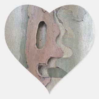 projetado por natureza adesivo coração