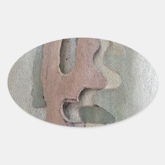 projetado por natureza adesivo oval