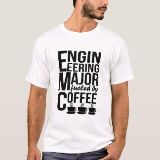 Projetando principal abastecido pelo café camiseta
