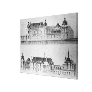 Projete para a reconstrução da fachada norte impressão em tela