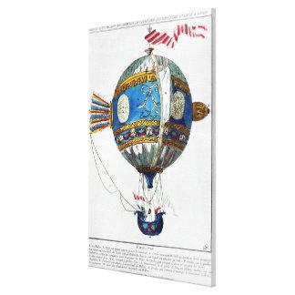 Projete para um balão de ar quente com um diâmetro impressão em tela