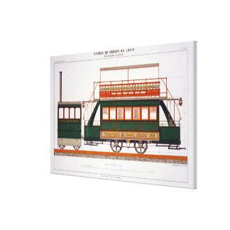 Projete para um bonde do vapor, chapeie 126 'do In Impressão De Canvas Esticadas