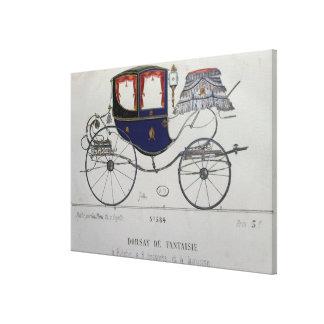 Projete para 'um Cupé Dorsay de Fantaisie' Impressão De Canvas Esticada