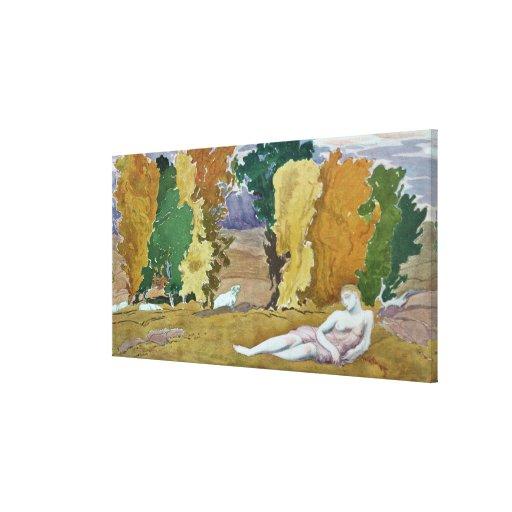 Projete para um painel decorativo, de Daphnis e de Impressão De Canvas Esticada