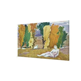 Projete para um painel decorativo, de Daphnis e de Impressão Em Tela