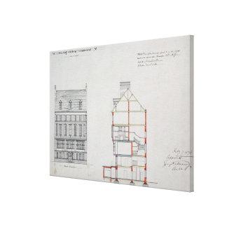 Projete para uma casa para W. Flor Esq, Chelsea Em Impressão De Canvas Envolvidas