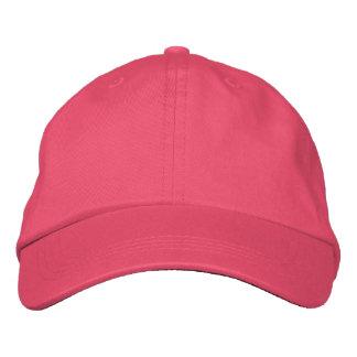 Projete seu próprio boné bordado - rosa