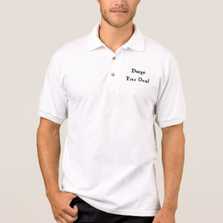 Projete seu próprio branco camiseta polo