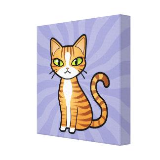 Projete seu próprio gato dos desenhos animados impressão em canvas