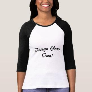 Projete seus próprio branco e preto t-shirt