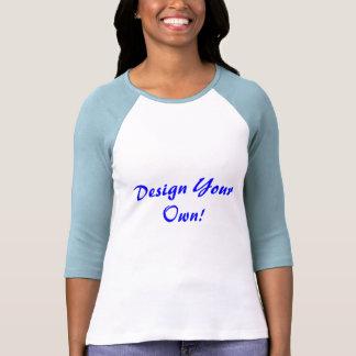Projete seus próprios branco e azuis bebés t-shirt