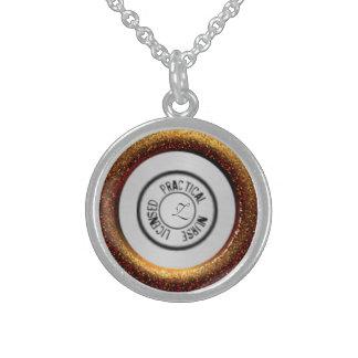 Projete uma colar do estetoscópio - bronze metálic