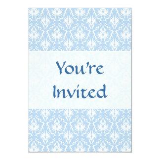 Projeto branco e azul pálido do damasco convites
