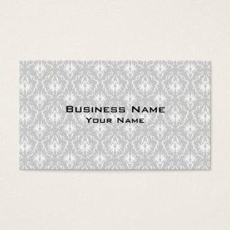 Projeto cinzento branco e Pastel do damasco Cartão De Visitas