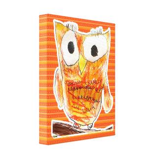 Projeto da arte da juventude da coruja | do impressão em tela