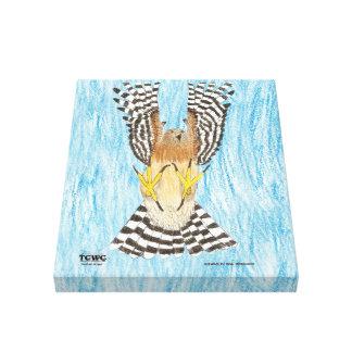 Projeto da arte da juventude do raptor em vôo | do impressão em tela