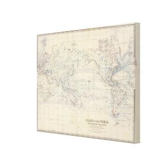 Projeto de Mercators do mundo Impressão De Canvas Esticada