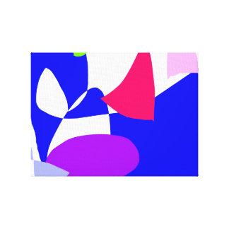 Projeto demorado para travar o azul da SK Impressão De Canvas Envolvida