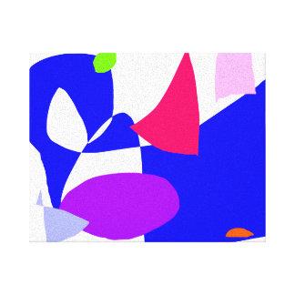 Projeto demorado para travar o azul da SK Impressão De Canvas Esticada