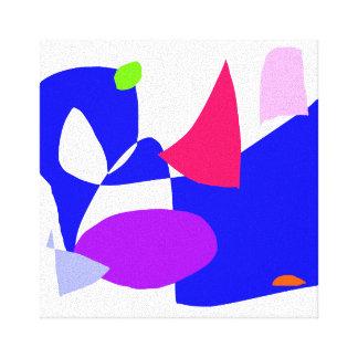 Projeto demorado para travar o azul da SK Impressão Em Tela Canvas