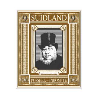 Projeto do selo da fantasia de Paul Kruger Impressão Em Tela