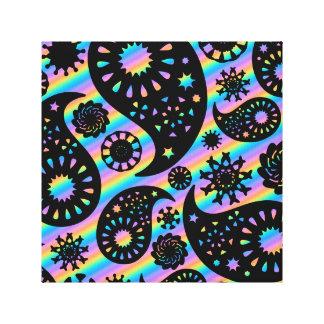 Projeto Funky de Paisley Impressão De Canvas Envolvida