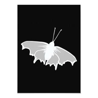 Projeto preto e branco da borboleta convite 12.7 x 17.78cm