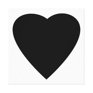 Projeto preto e branco do coração do amor impressão em tela