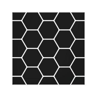 Projeto preto e branco do hexágono impressão em tela