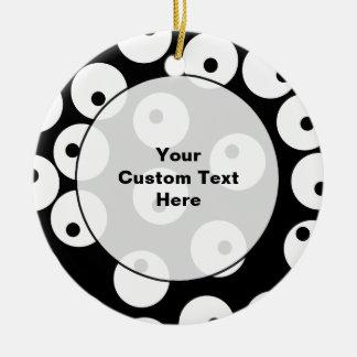 Projeto preto e branco retro do círculo ornamento de cerâmica redondo