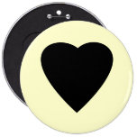 Projeto preto e de creme do coração do amor botons