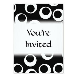 Projeto retro preto e branco na moda convite 12.7 x 17.78cm