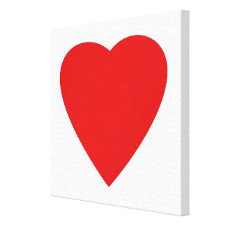 Projeto vermelho e branco do coração do amor impressão de canvas esticada