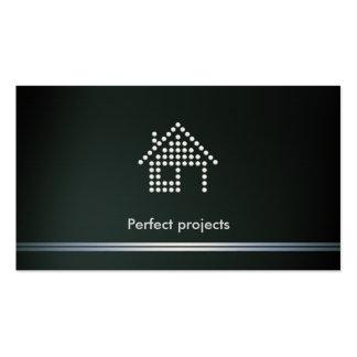 Projetos perfeitos do arquiteto | cartão de visita