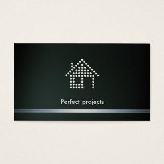 Projetos perfeitos do arquiteto | cartão de visitas