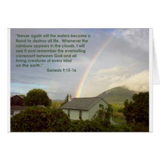 Promessa do arco-íris cartão comemorativo