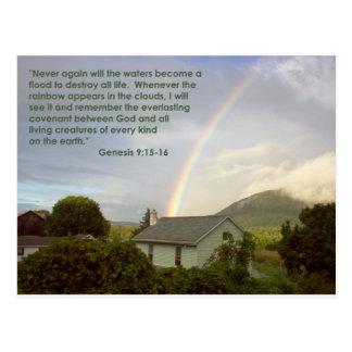 Promessa do arco-íris cartão postal