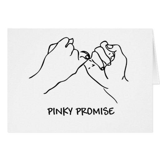 Pinky Promise Cartoon Pre- order. pre-order today!