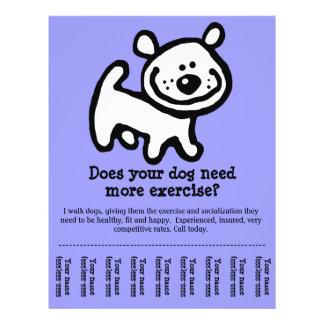 Promo customizável do caminhante BONITO do cão Panfleto Personalizado