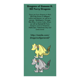 Promo peludo dos dragões do SD 10.16 X 22.86cm Panfleto