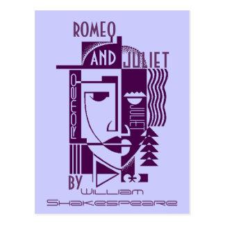 Promo Shakespeare Romeo do cartão & PC do jogo de Cartão Postal