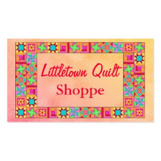 Promoção colorida dos retalhos da beira do bloco cartão de visita