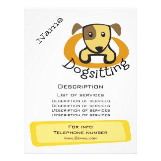 Promoção de Dogsitting Flyer 21.59 X 27.94cm