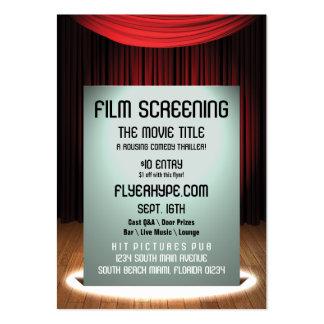 Promoção do evento da seleção do filme do cinema cartão de visita grande