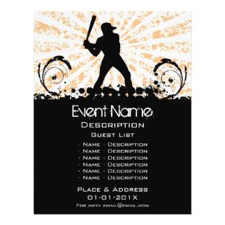 Promoção do evento do basebol flyer 21.59 x 27.94cm