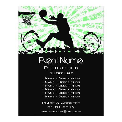 Promoção do evento do basquetebol modelo de panfleto