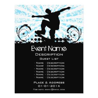 Promoção do evento do skate flyer 21.59 x 27.94cm