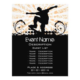 Promoção do evento do skate panfletos personalizado