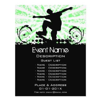 Promoção do evento do skate panfleto personalizados
