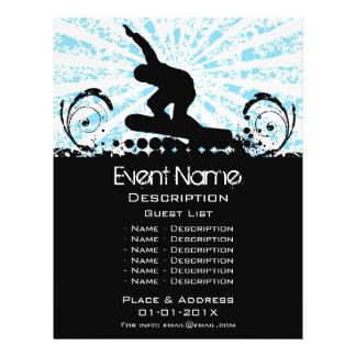 Promoção do evento do Snowboard Flyer 21.59 X 27.94cm